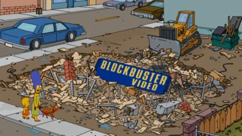Netflix Blockbuster dead