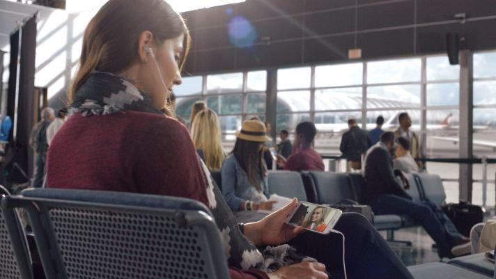 Netflix phone airport